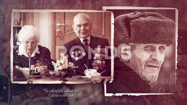 辉光耀斑复古老照片记忆沉淀历史照片展示片头,复古