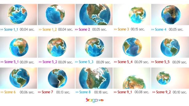 丰富的多种透明背景地球旋转视频素材,地球