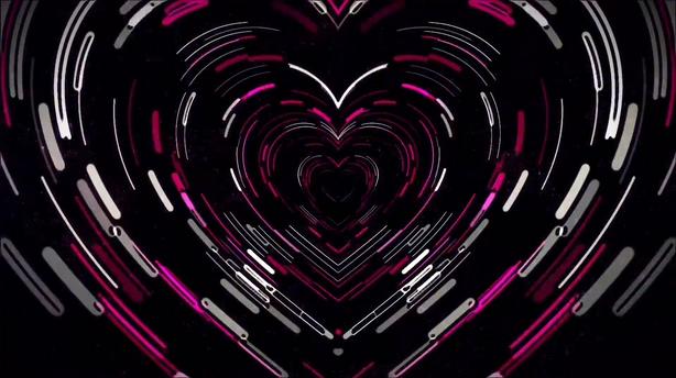 绚丽多彩心形love爱情动感led背景