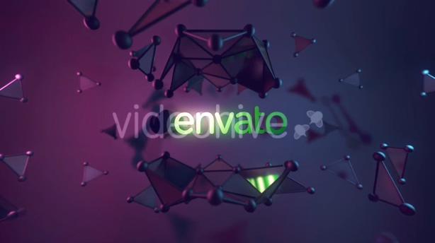 科技,logo,演绎,崩裂,绽放,原子,图形,视频素材