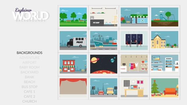 丰富的飞碟说类型讲解的一整套动画设计套装视频素材