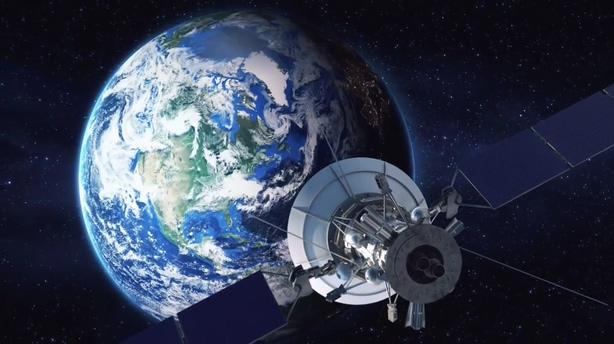 地球,定位,任务,产品,片头,云层,宇宙,卫星,穿过,军事,视频素材