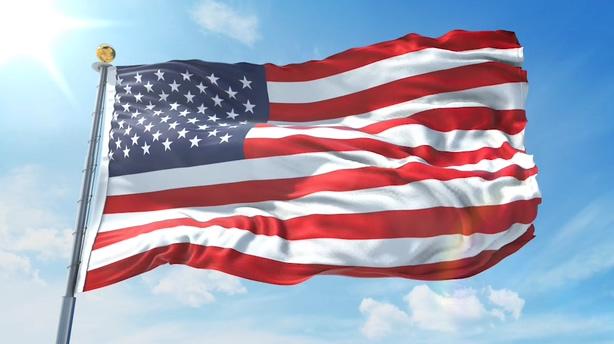 真实3d渲染迎风飘扬旗帜国旗视频模板,旗帜视频素材
