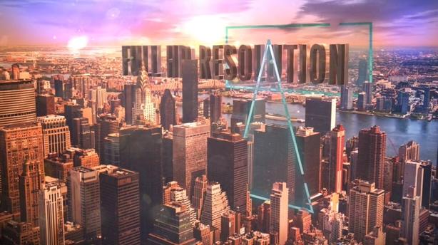 城市,文字,立体,穿行,高楼大厦,视频素材