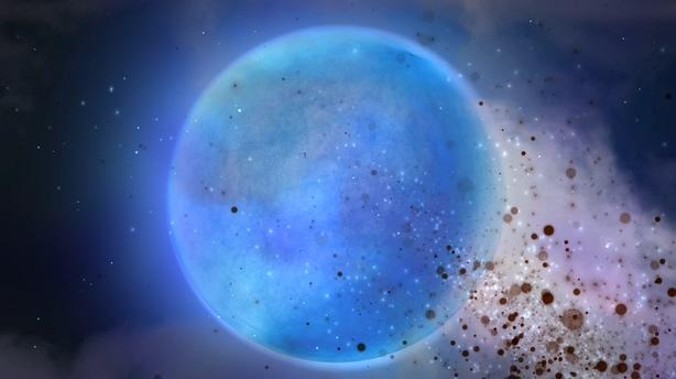 蓝色星球爆裂粒子绽放无限循环视频