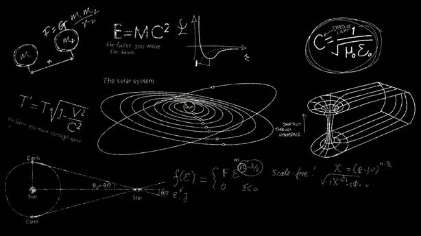 粉笔绘画天文教育教学相关动漫图形,教育