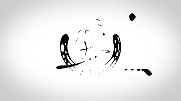 优雅水墨水滴mg动画液体清爽自媒体logo演绎视频素材