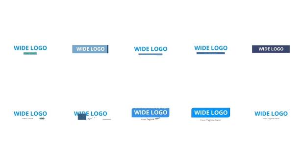 自媒体,logo,演绎,,多种,简洁,动画,视频素材