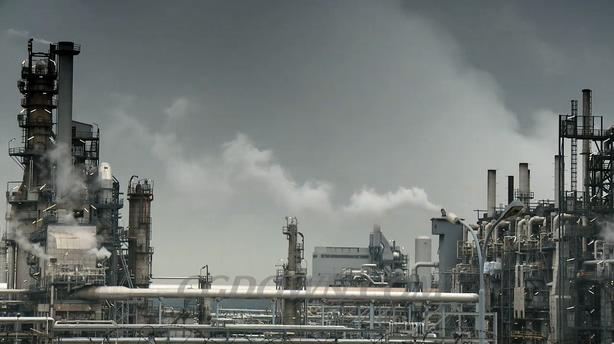 工厂烟雾排放环境污染烟雾弥漫视频素材