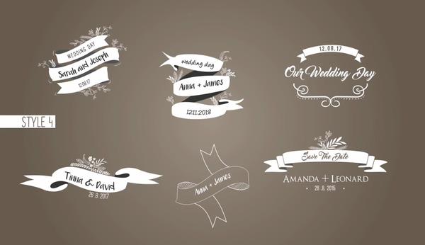 58种欧式生长花纹浪漫婚礼标题名字AE模板