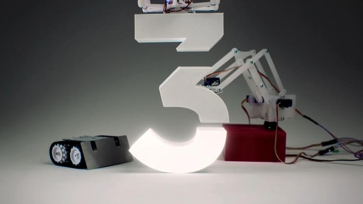 科技创意3D动画渲染制作数字倒计时