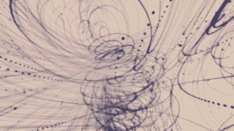 <b>混沌水墨点线线条空间艺术背景高清视频素材</b>