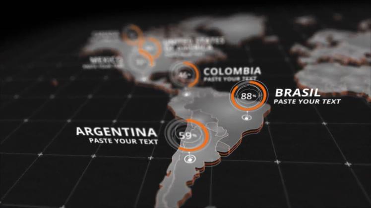 连线,工程,世界地图,全球,业务,布满,公司,视频素材
