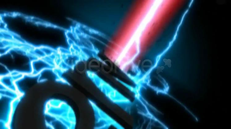 闪电,演绎,片头,logo,透射,能量,碎片,视频素材