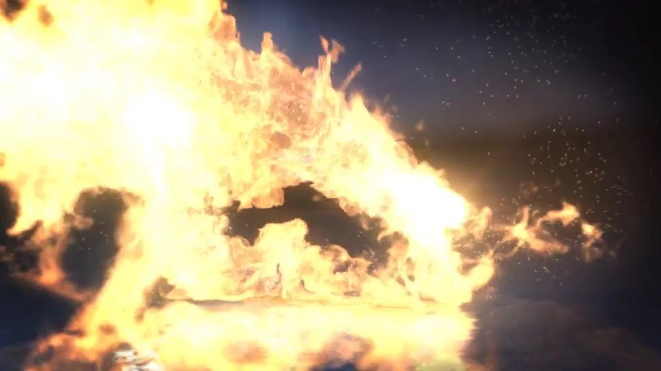火焰,logo,演绎,能量,燃烧,真实,大气,视频素材