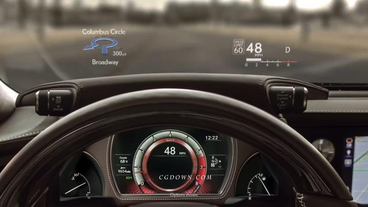雷克萨斯汽车2018最新款LS创意介绍广告视频素材