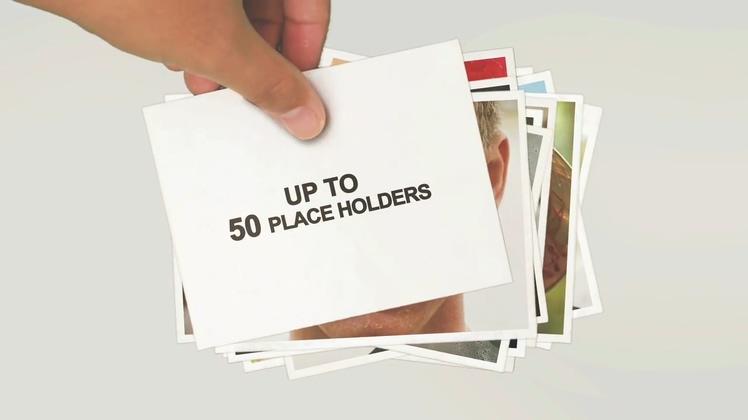 手势摆放放置照片浪漫记忆温馨相册AE模板