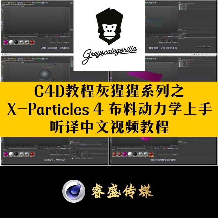 灰猩猩C4D教程之X-Particles 4CG资源