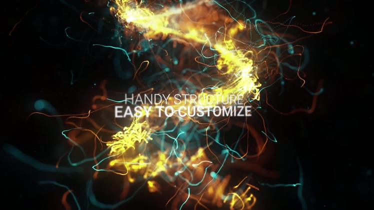 多彩,粒子,绽放,电流,火花,文字,动感视频素材