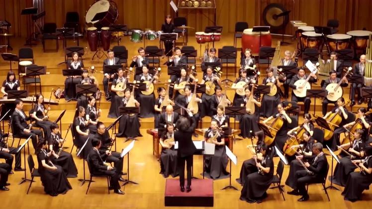 国家大剧院交响乐演奏高清视频素材