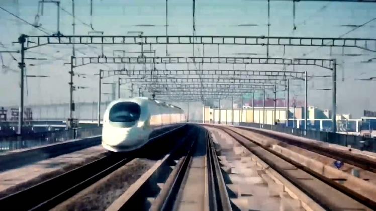 中国崛起高速发展科技视频素材
