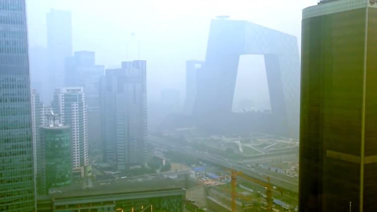 北京雾霾空气污染视频素材