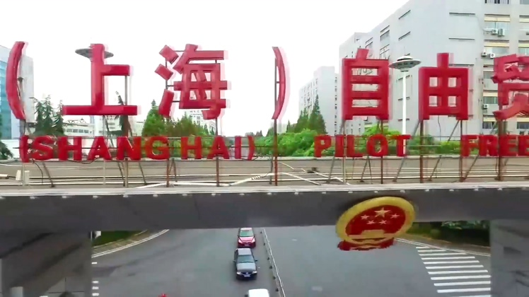 中国上海自贸区港口工业发展海关视频素材
