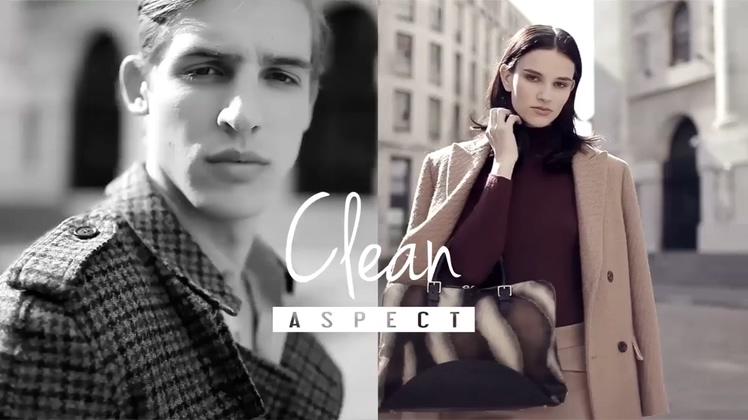 时尚,潮流,服装,动感,宣传,时尚多屏变换潮流服装品牌宣传片头AE模板视频素材