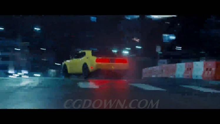 野马夜晚城市赛道竞技比赛森林飞驰穿梭漂移镜头速度激情高清视频