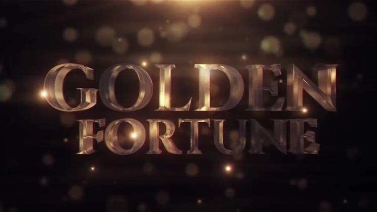 金属,玻璃,金色,标题,logo,片头视频素材