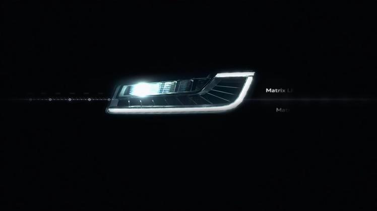 炫酷奥迪车灯led灯发展历史汽车科技演绎改变生活高清视频素材