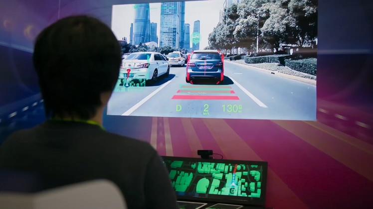 高尖端科技网络信息流无人驾驶数据搜集高清视频