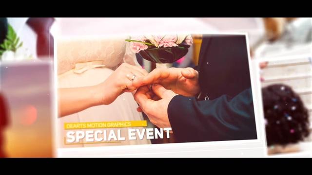 时尚空间层次浪漫爱情婚礼AE模板相册