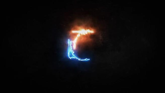 粒子能量线条勾勒科技logo演绎AE模板片头
