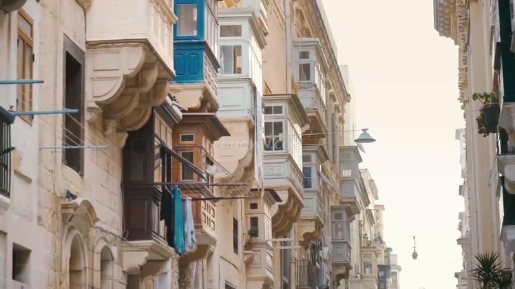 马耳他共和国城市风貌航拍