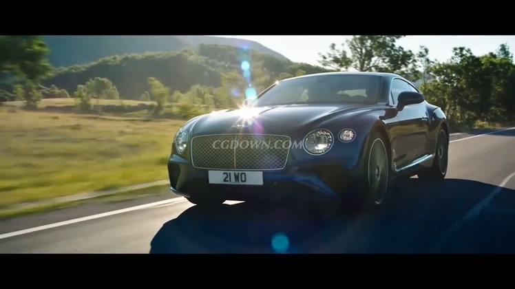 奔驰的最新款宾利欧陆GT汽车视频广告素材