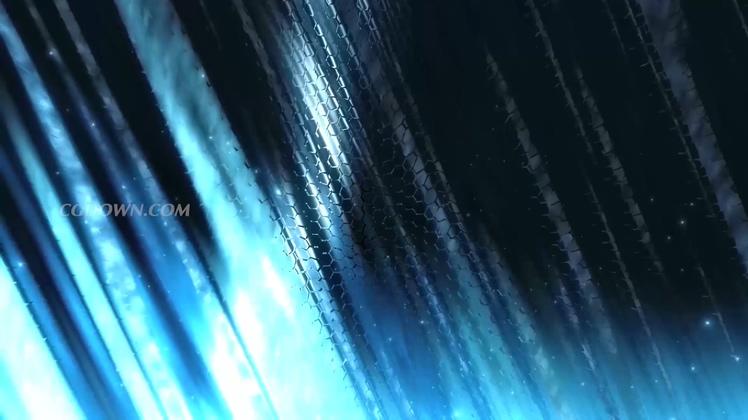 大气蓝色尊贵丝绸背景led舞台视频素材