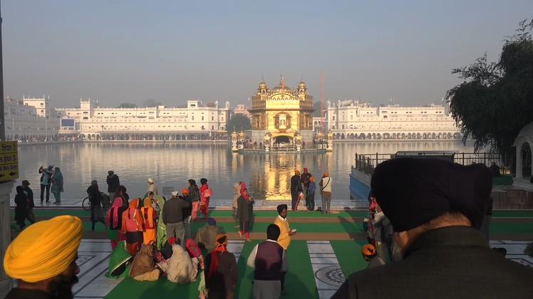 美丽的印度旅游阿姆利则金庙高清视频素材