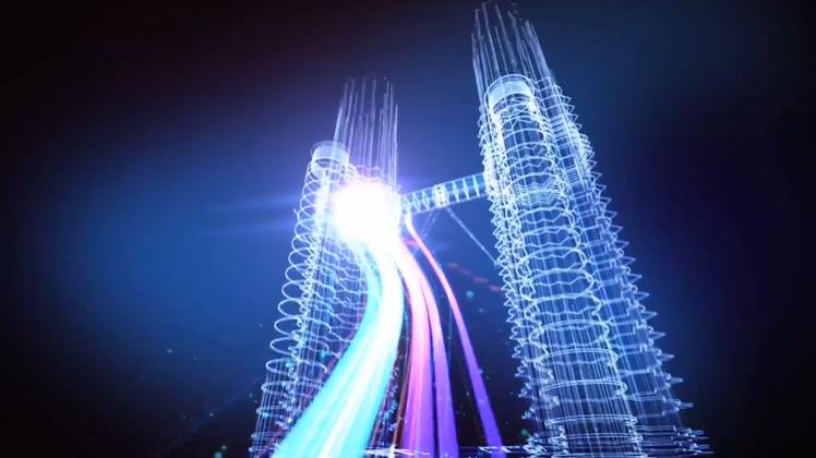 城市互联网信息互通经济发展三维动画高清视频素材