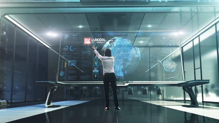 掌握全球互联5G科技电视频素材