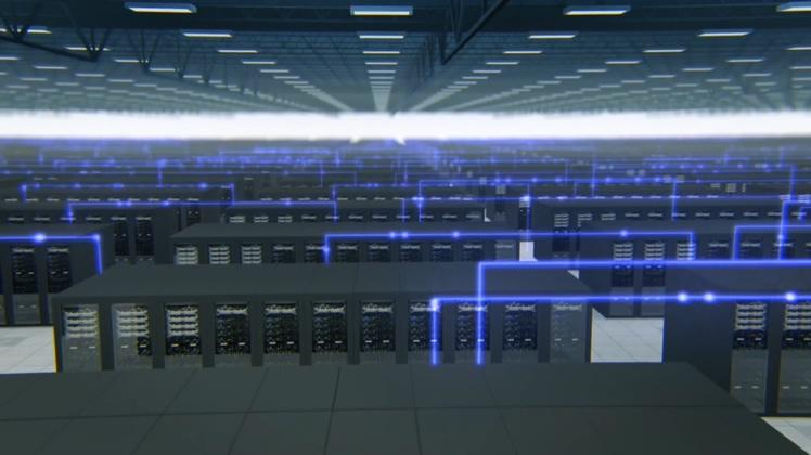 科技机房数据存储安全视频素材