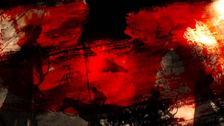 古代战争战场厮杀艺术视频背景素材
