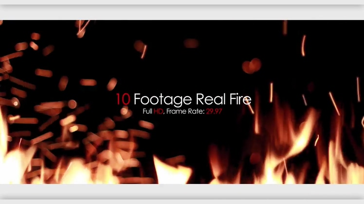10种真实燃烧火焰视频视频素材