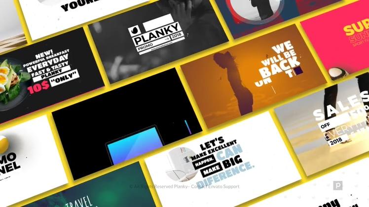 创意时尚宣传潮流视频模板Promo Idents