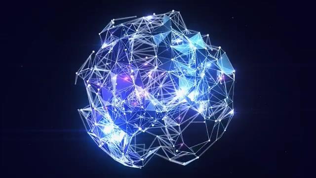 璀璨点线星光闪耀logo演绎Plexus Globe Logo Reveal