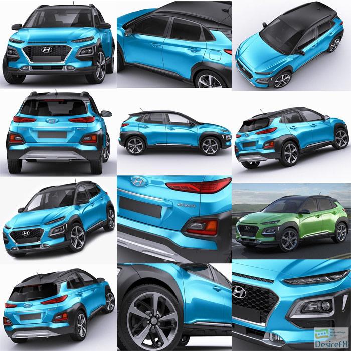 现代汽车2018款Kona3D模型3D MCG资源