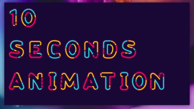 霓虹灯,文字,动感时尚霓虹灯字幕数字特效文字视频素材