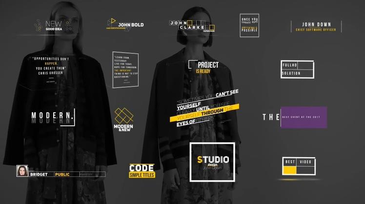多种时尚线条动画字幕版式