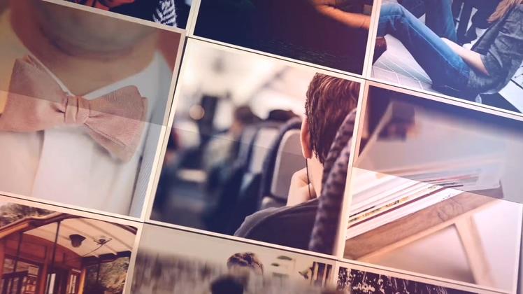 图片翻转特效样式记忆相册AE模板