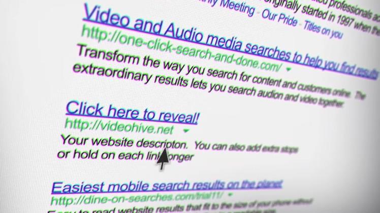 网络搜索引擎结果展示宣传AE模板